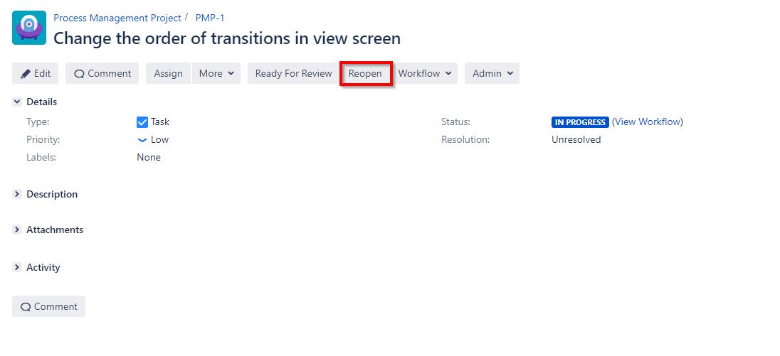 change transition order in jira